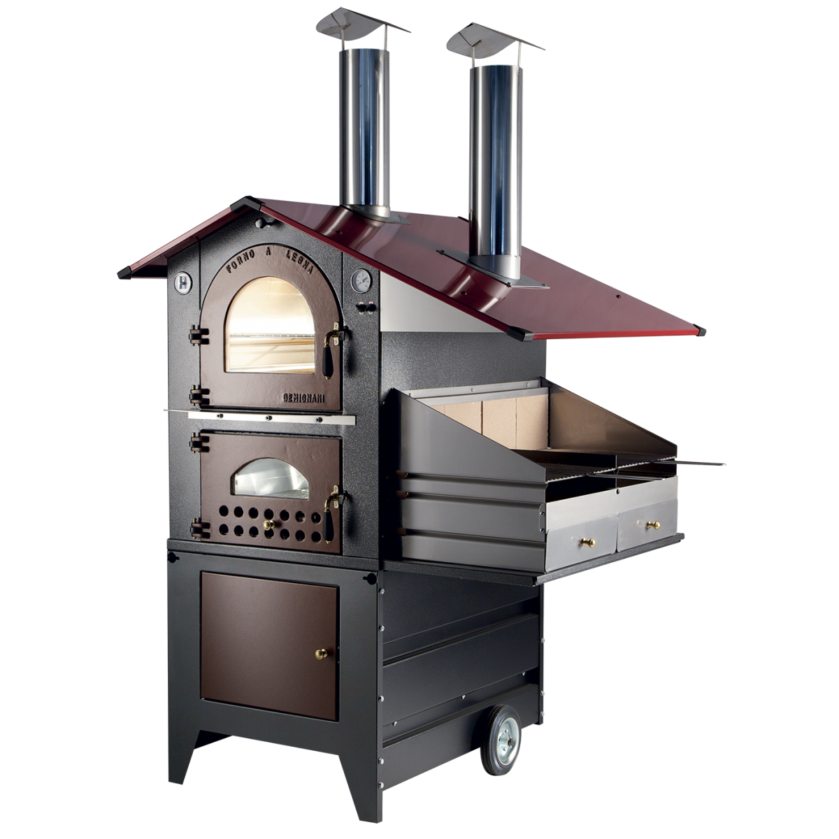 Wood Stove Outdoor Model G90 Barbecue
