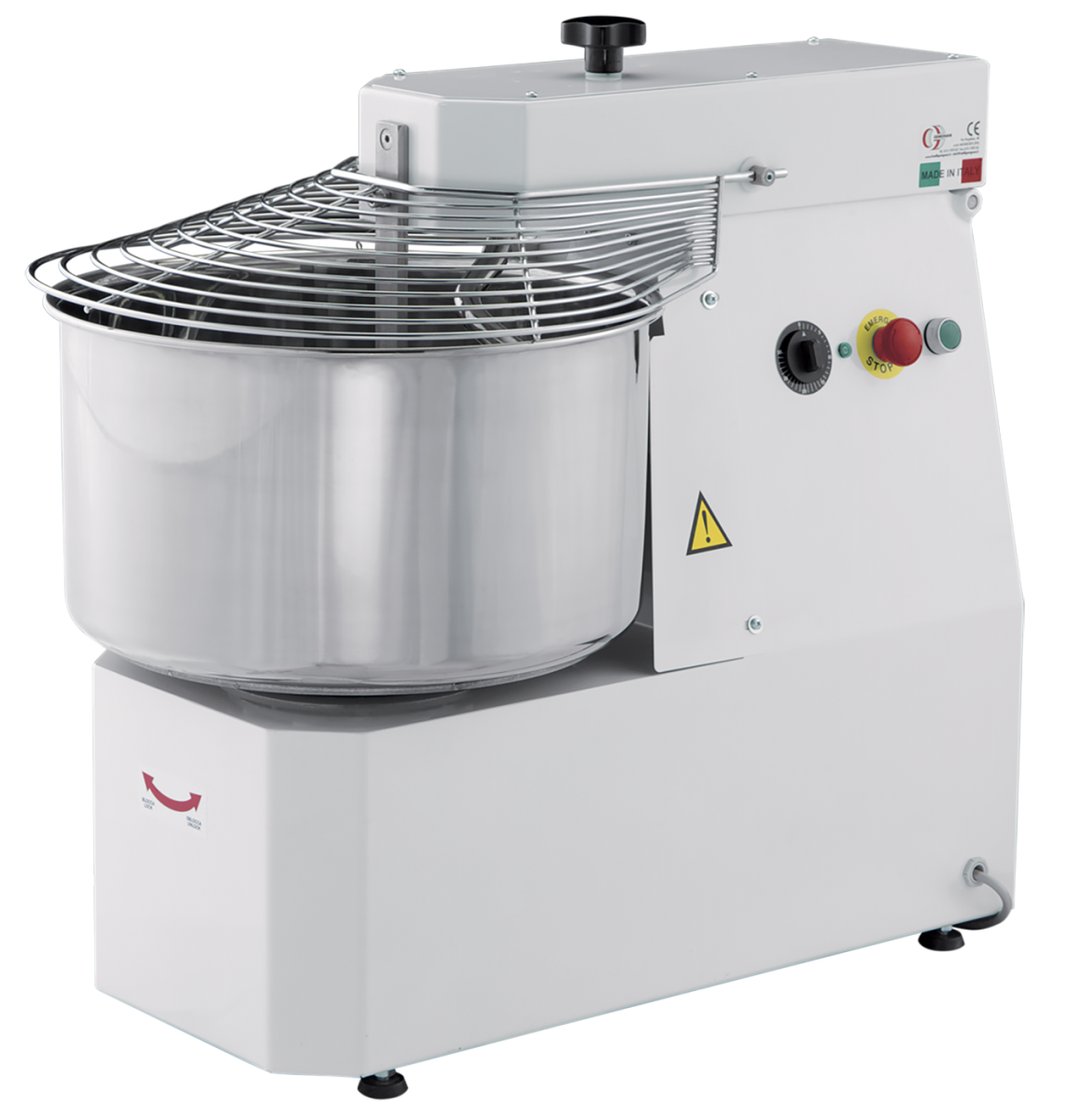 Spiral mixer with tilting head GM16